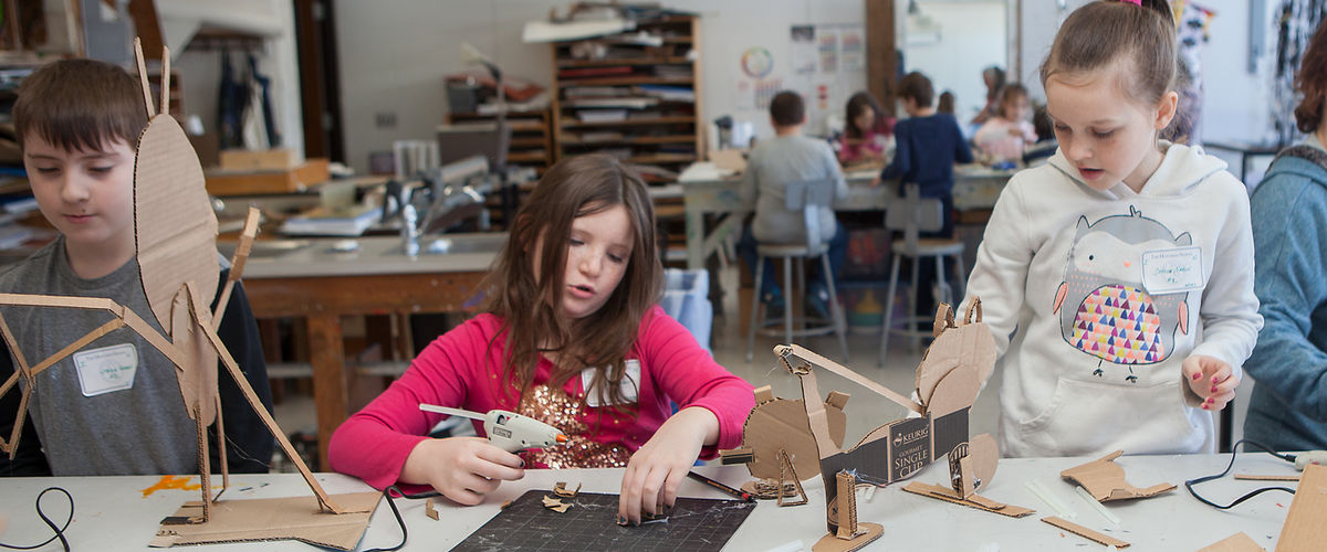 A Bird Hotel Made of Cardboard? On Fourth Grade Arts Day, Anything Is Possible