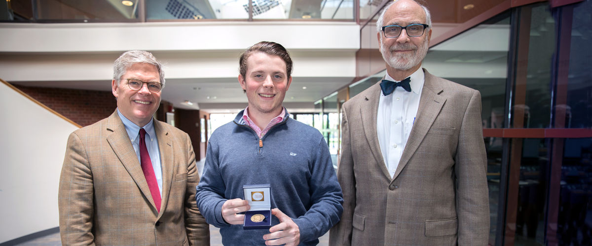Lewitt '18 Awarded the King Constantine Community Service Medal