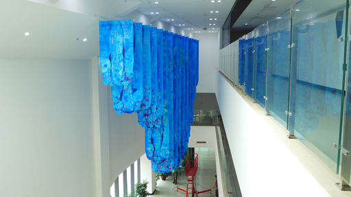 Art Instructor Terri Moore's Iceberg Installation Opens at Keystone Academy Beijing