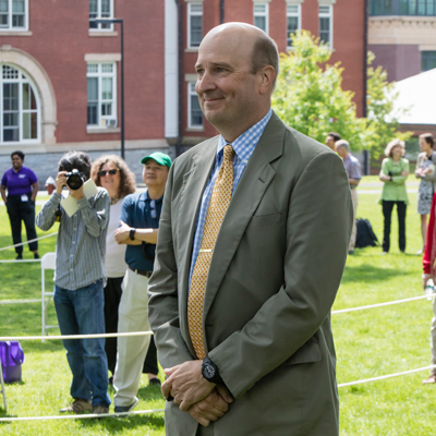 Charlie Frankenbach receives Amherst College's Phebe and Zephaniah Swift Moore Teaching Award